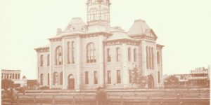 Photo of the 1896 Matagorda County Courthouse.